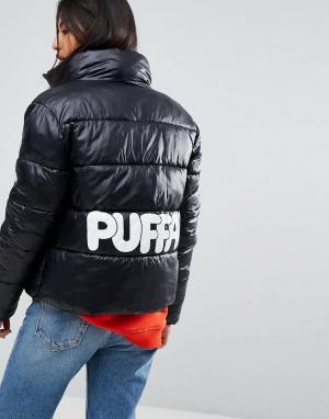 Puffa Оверсайз-куртка с логотипом на спине Original. Цвет: черный