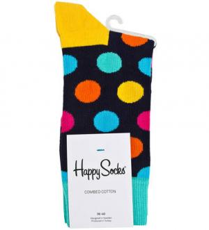 Раноцветные носки в горошек Happy Socks. Цвет: мультиколор