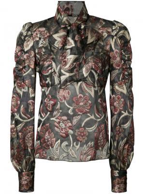 Pussy bow blouse Anna Sui. Цвет: многоцветный