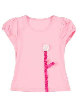 Футболка Jane Flo. Цвет: розовый