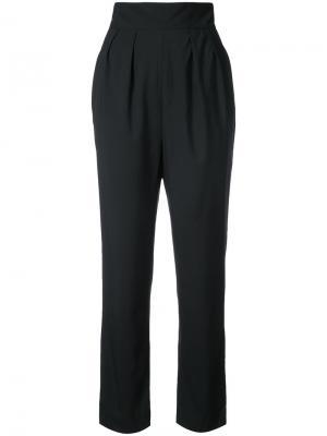 Укороченные брюки с завышенной талией Monique Lhuillier. Цвет: чёрный