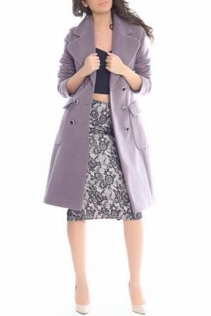 Пальто Emma Monti. Цвет: light purple