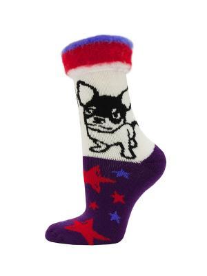 Новогодние носки HOSIERY. Цвет: фиолетовый