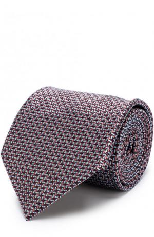 Шелковый галстук с узором Brioni. Цвет: светло-коричневый