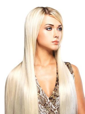 Накладные волосы, пряди на заколках-клипсах Lika VIP-PARIK. Цвет: желтый