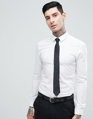 Noose & Monkey Супероблегающая строгая рубашка. Цвет: белый