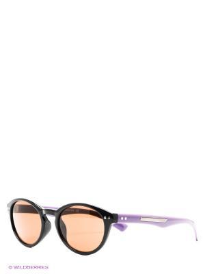 Солнцезащитные очки United Colors of Benetton. Цвет: черный, фиолетовый