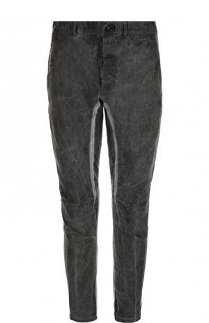 Льняные брюки прямого кроя Isaac Sellam. Цвет: темно-серый