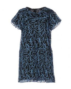 Короткое платье NINEMINUTES. Цвет: небесно-голубой