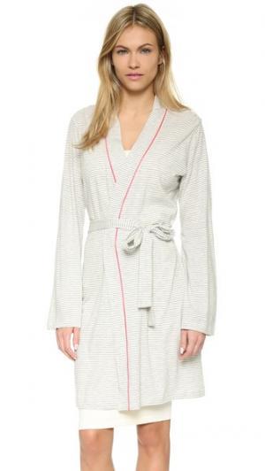 Пижамный халат Bella Cosabella. Цвет: серый меланж/оранжево-розовый