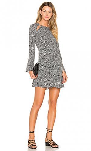 Платье с разрезами лесенкой camellia Line & Dot. Цвет: black & white