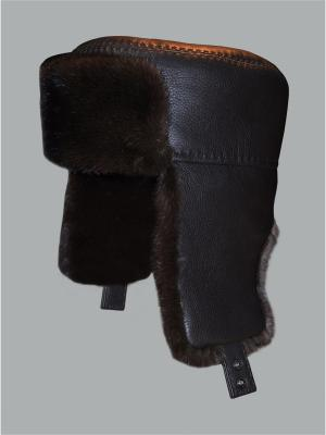 Шапка-ушанка Bos Bison. Цвет: коричневый