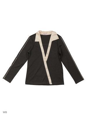 Блузка Агат. Цвет: черный