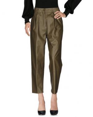 Повседневные брюки FEDERICA TOSI. Цвет: зеленый-милитари