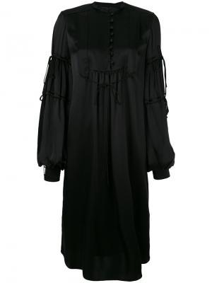 Платье с рукавами клеш Veronique Branquinho. Цвет: чёрный