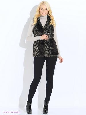 Жилет Vero moda. Цвет: серый, черный
