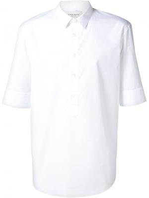 Рубашка с короткими рукавами Public School. Цвет: белый