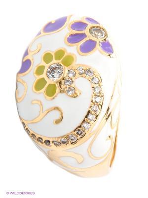 Кольцо Happy Garnets. Цвет: белый, сиреневый, золотистый