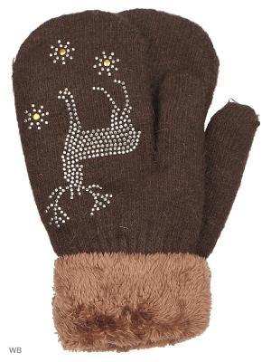 Варежки Punta. Цвет: темно-коричневый
