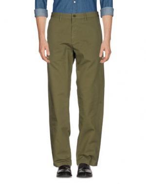 Повседневные брюки NORSE PROJECTS. Цвет: зеленый-милитари