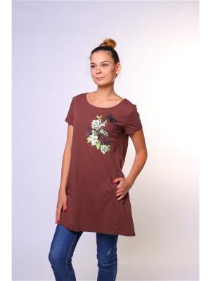 Туника FRAU collection. Цвет: коричневый