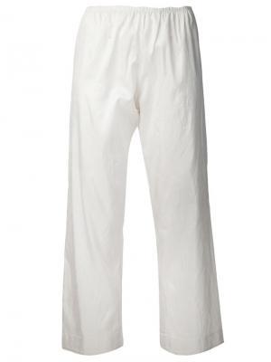 Пижамные брюки Dosa. Цвет: белый