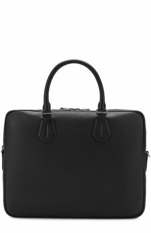 Кожаная сумка для ноутбука Bally. Цвет: зеленый
