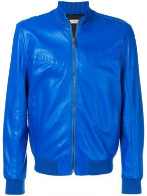 Куртка-бомбер с панельным дизайном Dirk Bikkembergs. Цвет: синий