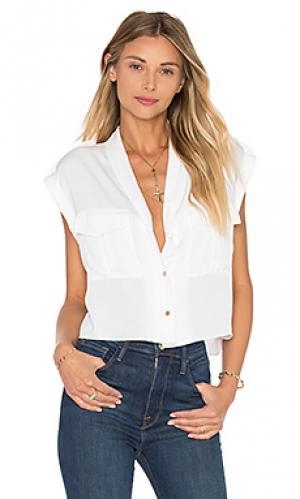Укороченный топ-блуза the safari LAcademie L'Academie. Цвет: белый