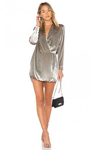 Мини платье Michelle Mason. Цвет: металлический серебряный