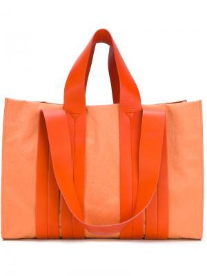 Большая сумка на плечо Costanza Corto Moltedo. Цвет: жёлтый и оранжевый