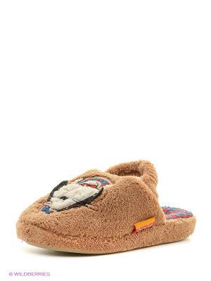 Тапочки детские Dream Feet. Цвет: бежевый