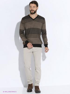 Пуловер Vargas. Цвет: коричневый