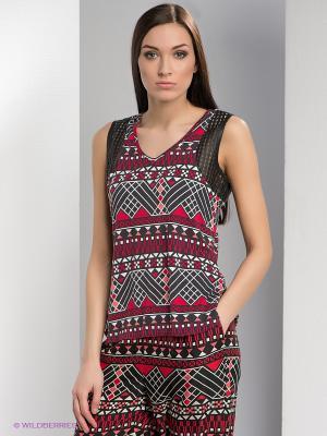 Топ Vero moda. Цвет: бордовый, белый, черный