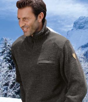 Вязаный Пуловер AFM. Цвет: антрацитовыи