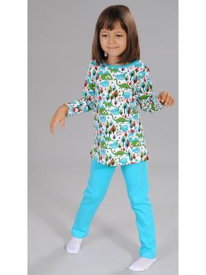 Пижама Милашка Сьюзи. Цвет: голубой