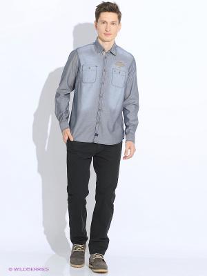 Рубашка LERROS. Цвет: серебристый