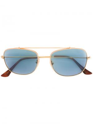 Солнцезащитные очки-авиаторы Retrosuperfuture. Цвет: металлический