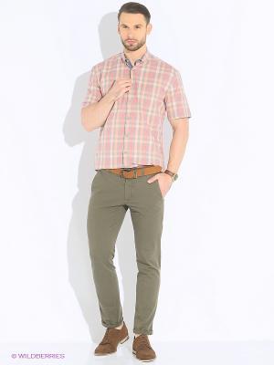 Рубашка Maestro. Цвет: серый, розовый