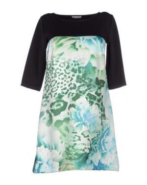 Короткое платье DANIELA FARGION. Цвет: светло-зеленый