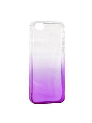 Крышка задняя для Iphone5/5S/SE Силикон IQ Format. Цвет: фиолетовый