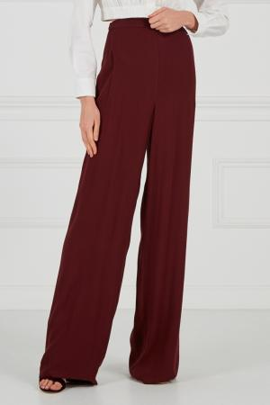 Бордовые брюки-палаццо Cyrille Gassiline. Цвет: бордовый