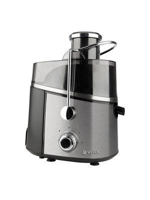 Соковыжималка VITEK 3657(ST) , макс мощность 900 Вт, 2 скоростных режима + режим Пульс.. Цвет: серебристый