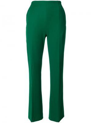 Расклешенные брюки Marni. Цвет: зелёный