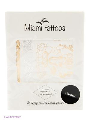 Флэш-Татуировки Oriental, 3шт Miami Tattoos. Цвет: золотистый