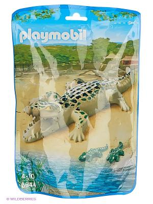 Зоопарк: Аллигатор с детенышами Playmobil. Цвет: зеленый