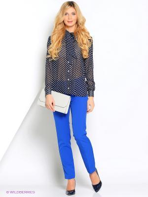 Блузка Кэнди CLABIN. Цвет: темно-синий
