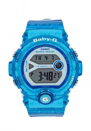 Часы Casio. Цвет: голубой