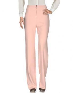 Повседневные брюки BETTY BLUE. Цвет: розовый