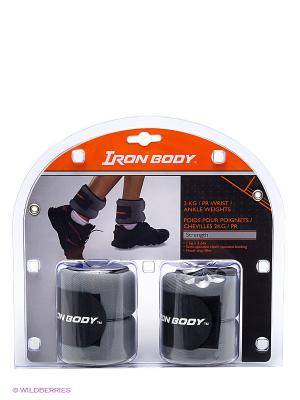 Утяжелители для рук и ног Iron Body. Цвет: серый, черный
